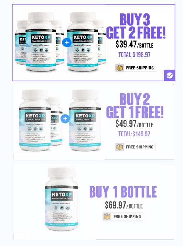 Keto XP Pricing